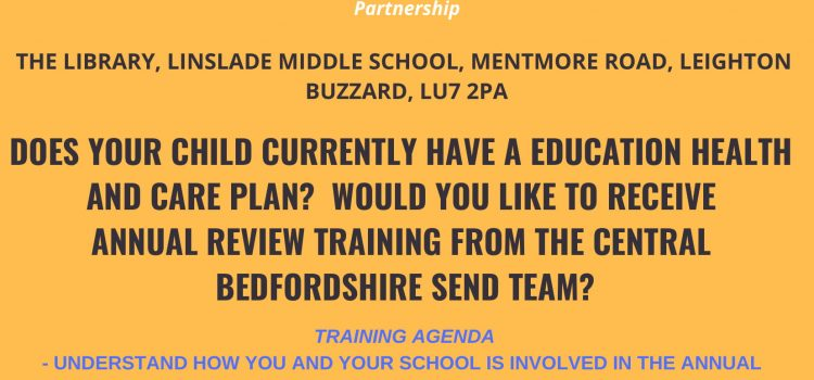 EHCP Annual Training Review – 20th November 6pm-8pm Linslade Lower School