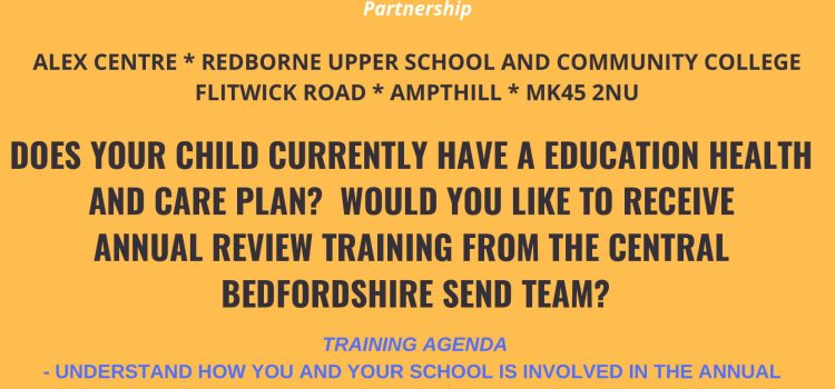 EHCP Annual Review Training 29th November 6pm-8pm Redborne