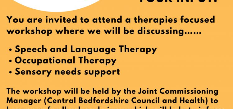 Children's Therapies Workshop – 16th May 10am – 12pm