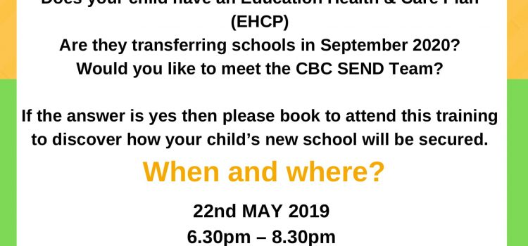 Phased Transfer Workshop – 22nd May 18.30- 20.30pm – Redborne