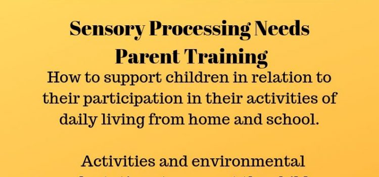 Sensory Processing Needs Parent Training – 19th September 2019, 10-2.30 – Flitwick