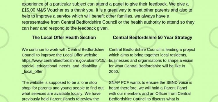 Parent Panel – Local Offer Health Section 8.11.2019 – Parent Panel CBC 50 Year Vision