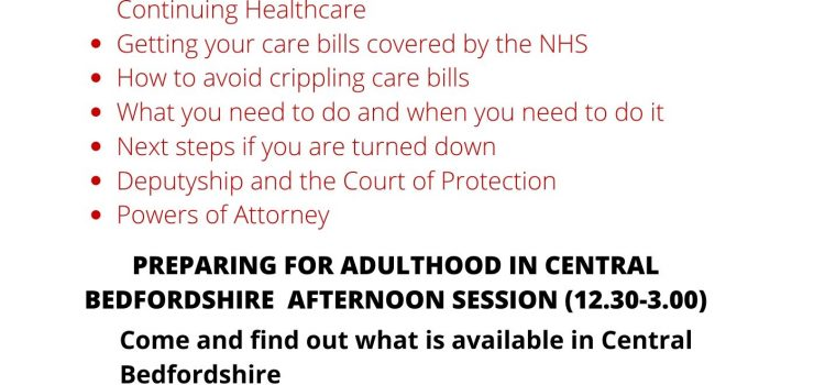 SNAP – PREPARING FOR ADULTHOOD INFORMATION DAY 9TH MARCH 2020 10am-3pm *Booking is essential